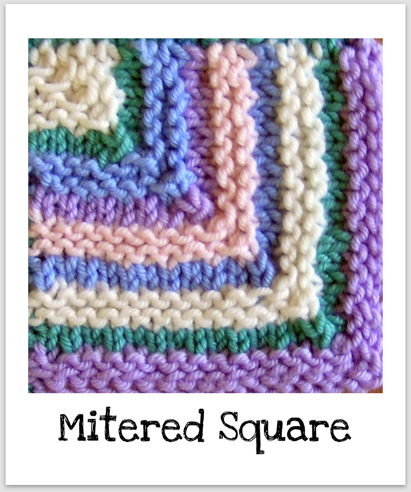 Knitting Patterns For Mitered Squares : Squares Knitting Basket
