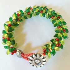 Boughs of Holly Bracelet