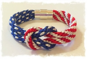 Square Knot 4th of July Bracelet