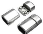 Silver Straight Magnetic End Cap